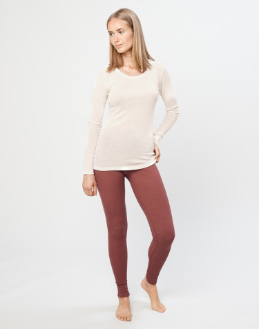 Leggings i merinoull för dam rouge