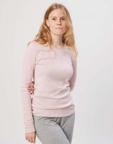 Pyjamaströja för dam i bomull rosa