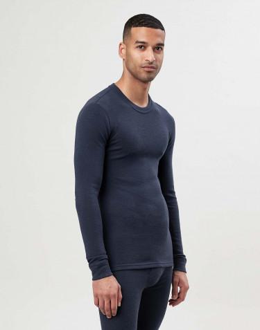 Långärmad tröja i merinoull för herr