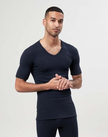 V-ringad t-shirt i merinoull för herr
