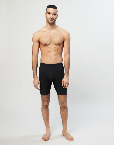 Boxershorts i merinoull med gylf svart