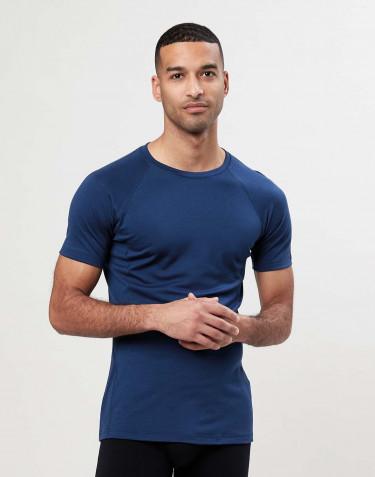 T-shirt herr - exclusive merinoull mörkblå