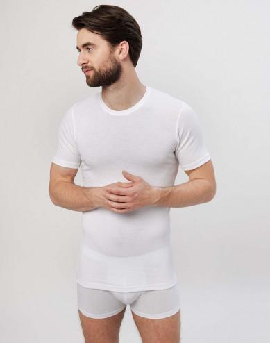 Herr-T-shirt i bomull vit