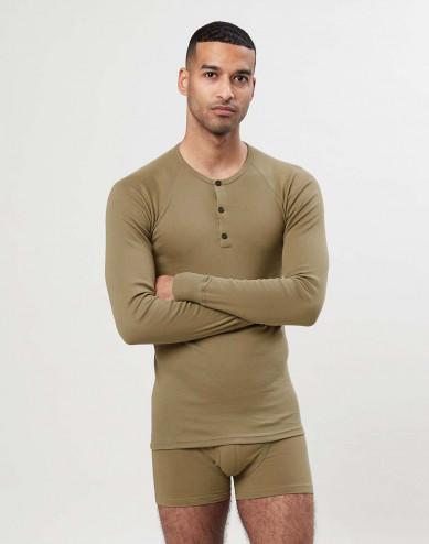Långärmad tröja i premiumbomull för män