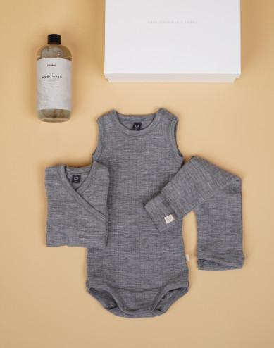 Babypaket grå stl 56