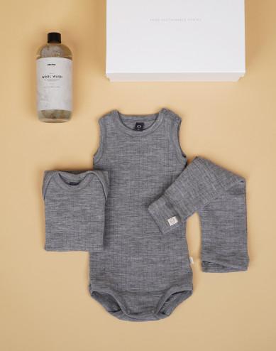 Babypaket grå stl 74