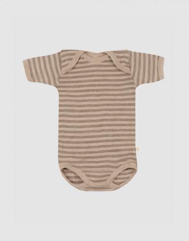 Kortärmad body i merinoull för baby