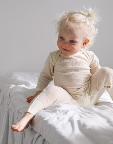 Sparkdräkt i merinoull för baby