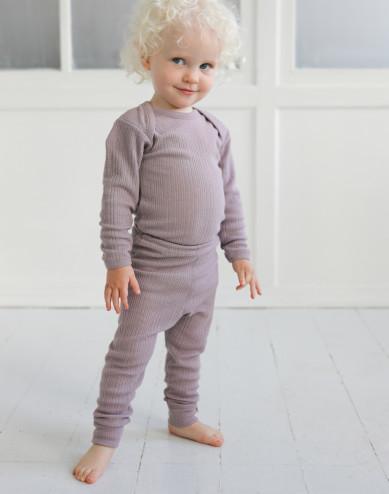 Leggings i merinoull för baby