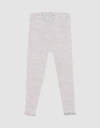 Leggings i merinoull med krusade kanter för baby