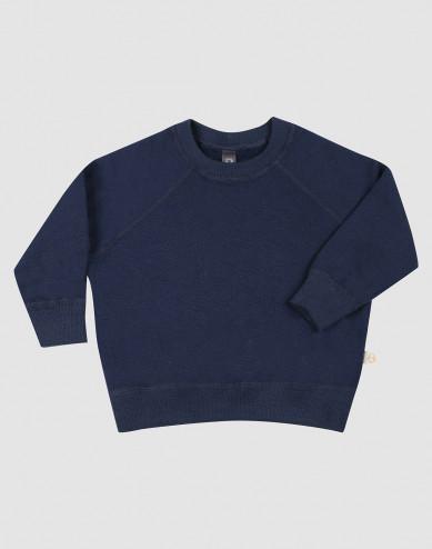 Sweatshirt i ullfrotté för baby