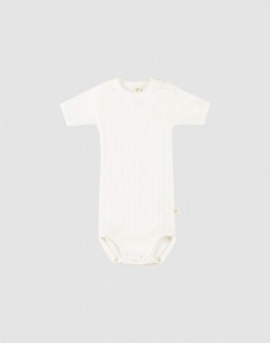 Kortärmad body för baby i ekologisk bomull vit