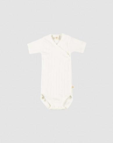 Omlottbody i ekologisk bomull för baby vit