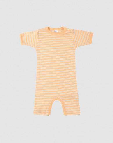 Sommardräkt för baby i ekologisk ull/siden Aprikos/natur