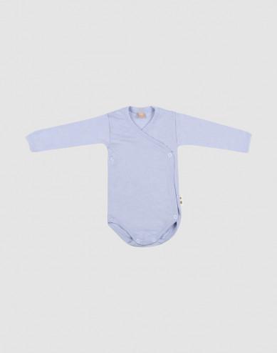 Omlottbody i merinoull/siden för baby