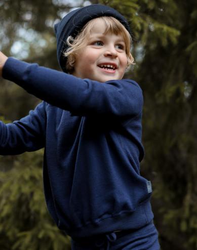 Sweatshirt i ullfrotté för barn
