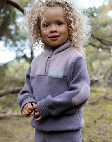 Jacka i merinoullsfleece för barn