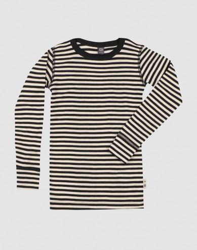 Långärmad topp i merinoull/siden för barn