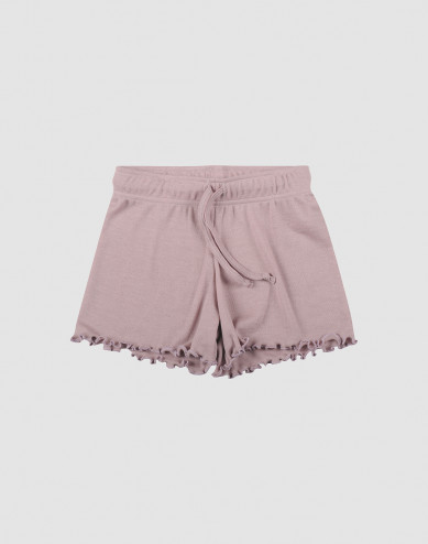 Shorts i ekologisk ull/siden pastellrosa