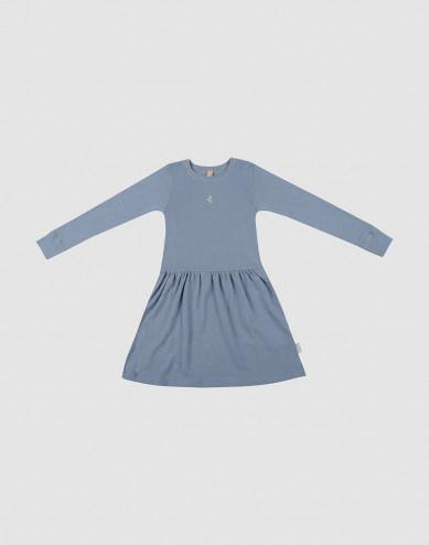 Ullklänning för barn blå