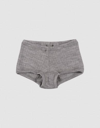 Hipstertrosa för flickor i bred ullribb gråmelerad
