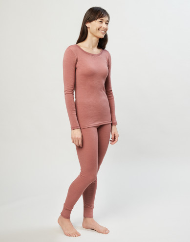 Merinoullsleggings för dam rosa