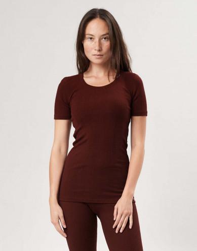 T-shirt i merinoull för dam