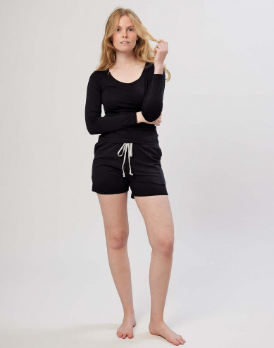 Shorts för dam i bomull svarta