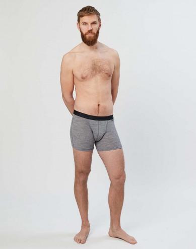 Boxershorts i merinoull grå