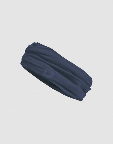 Tubhalsduk för dam i ekologisk exklusiv merinoull mörkblå