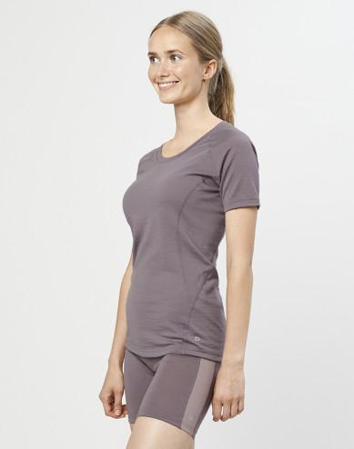 T-shirt för damer - ekologisk exklusiv merinoull lavendelgrå