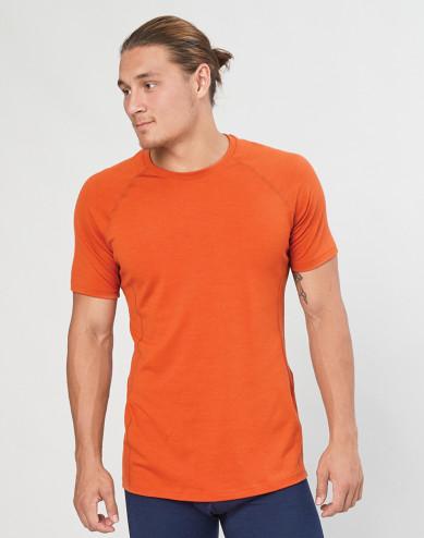 T-shirt herr - ekologisk exklusiv merinoull orange
